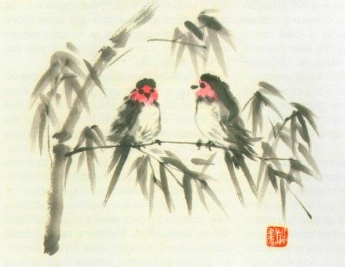 После того как буддийские монахи завезли живопись суми-э в Японию... ну...