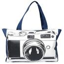 Стильная сумка с изображение фотоаппарата.  Сделана для фотолюбителей.