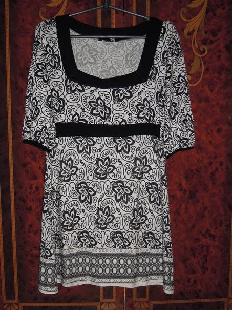 Платье трикотажное, рукав три четверти, квадратный вырез, размер 48...