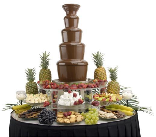 Шоколадные фонтаны и фонтаны для шампанского.  Летний сезон!