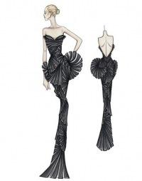 Versace - эскизы и их оживление.
