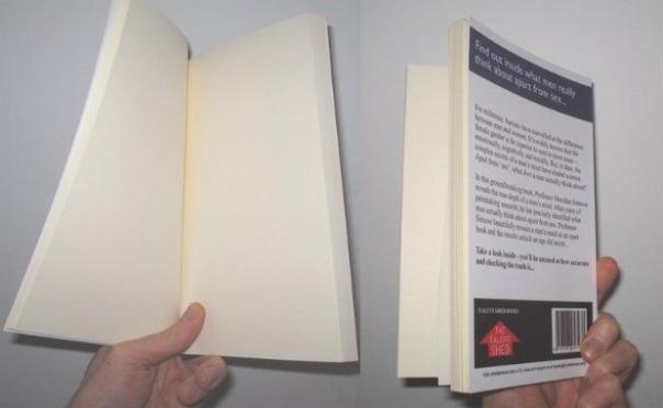 Книга О чем мужчины думают помимо секса обошлась без текста.
