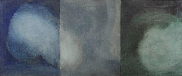 Антон Логов, БЕРЕЗЕНЬ, КВІТЕНЬ, ТРАВЕНЬ, із серії Сонце, триптих, 2012, полотно, олія