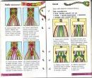 Плетение фенечек макраме.  Завязывая узелки старайтесь делать их ровными.