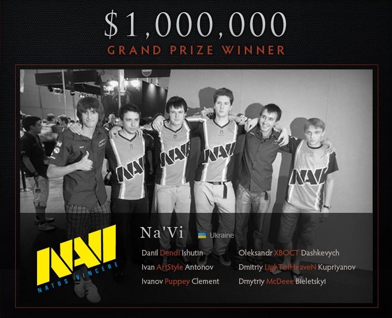 Dota 2 чемпионы - Украина (Выигрыш 1000000 долларов)