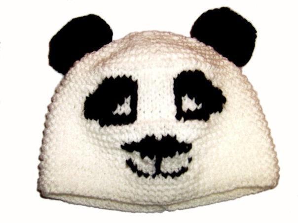 шапка панда схема вязания скачать, вязание кофт из двух цветных ниток.