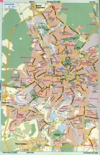 Карта авто дорог г Харьков, Украина.  Скачать бесплатно карту Харькова.