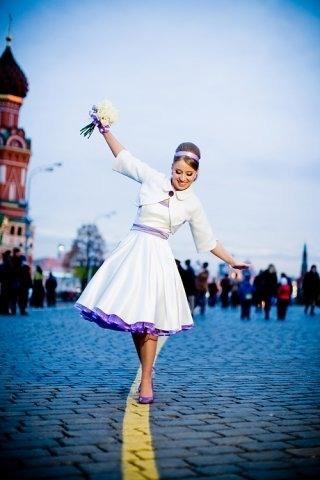 Шелковое свадебное платье в стиле 50-х (new-look style)