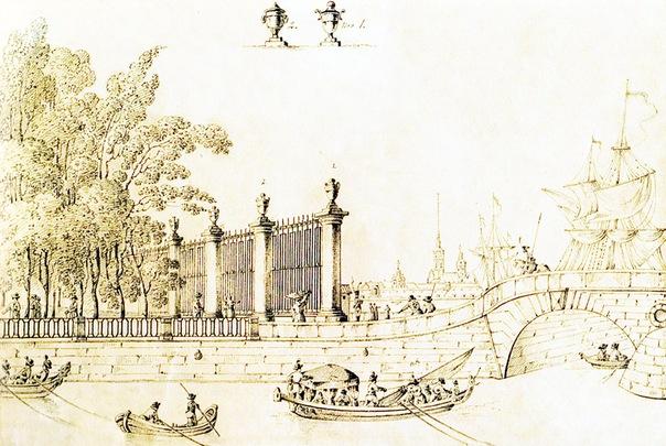 29 октября снесена решетка летнего сада: