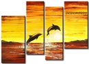 Триптих Cuadro delfines - замечательный буклет для вышики крестиком Название: Cuadro delfines Автор...