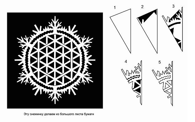 Как сделать снежинки на новый год схема