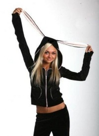 Спортивный женский костюм с ушками