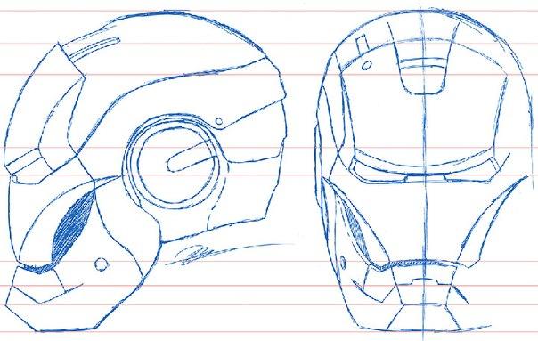 Как сделать шлем железного человека схема
