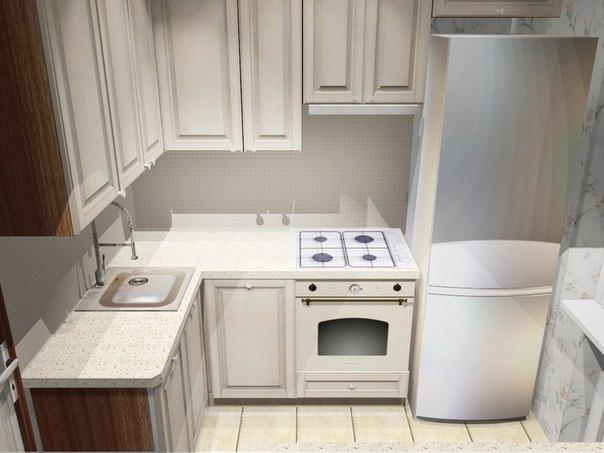 Угловая кухня 6 кв дизайн
