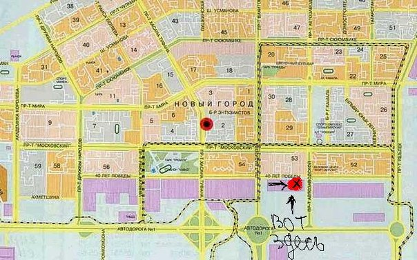 карта города челны