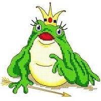 царевна-Лягушка вышивка крестом схемы для начинающих, лягушка, царевна.
