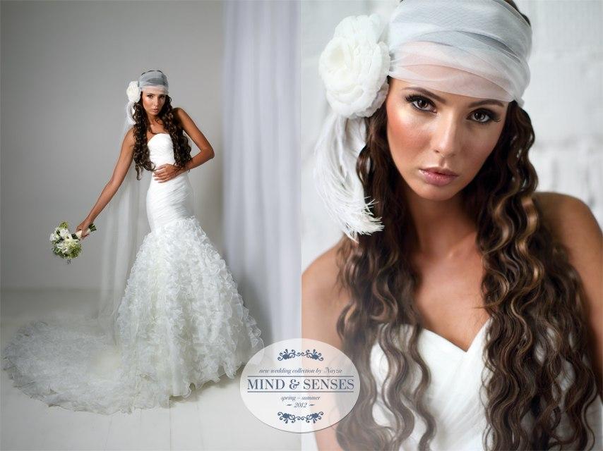 Свадебные прически 2012 фото с фатой с