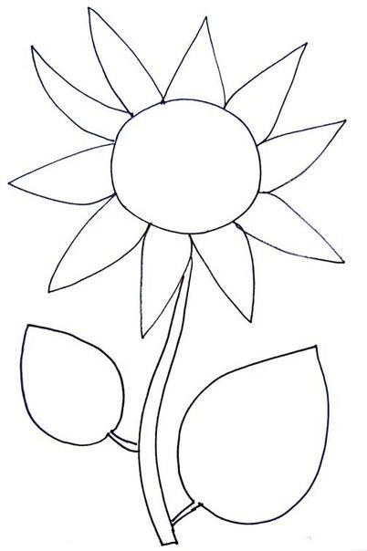 Рисунки цветов для поделок