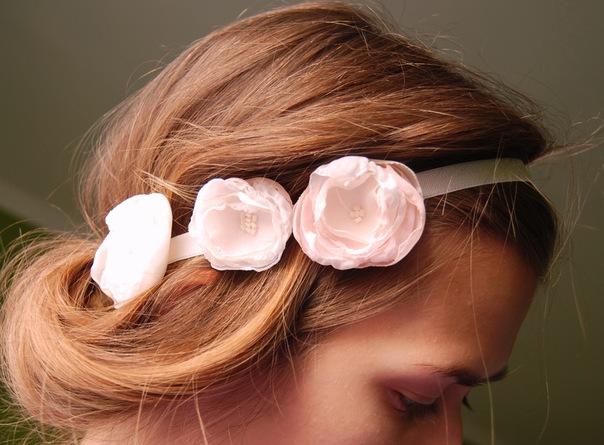 Как сделать из резинки повязку на голову
