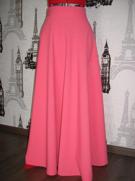 Юбки макси розовые