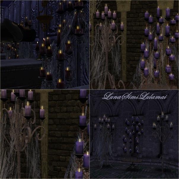 Свечи и паутина от Luna