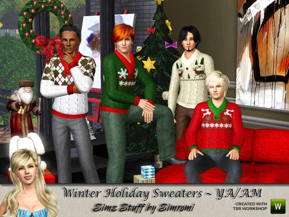 Winter Holiday Knit Sweater for YAAM от simromi