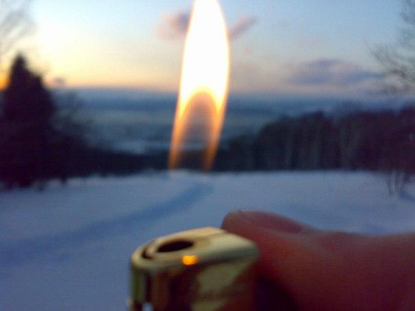 зимние похождения на лыжах))