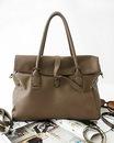 Сумки Саквояжи Модная вместительная сумка серого цвета.