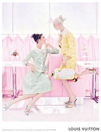 Louis Vuitton SS 2012 Kati Nescher & Daria Strokous by Steven Meisel.