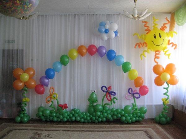 Праздничные арки из воздушных шаров.  На страницу выбора украшений.  ДК-10.