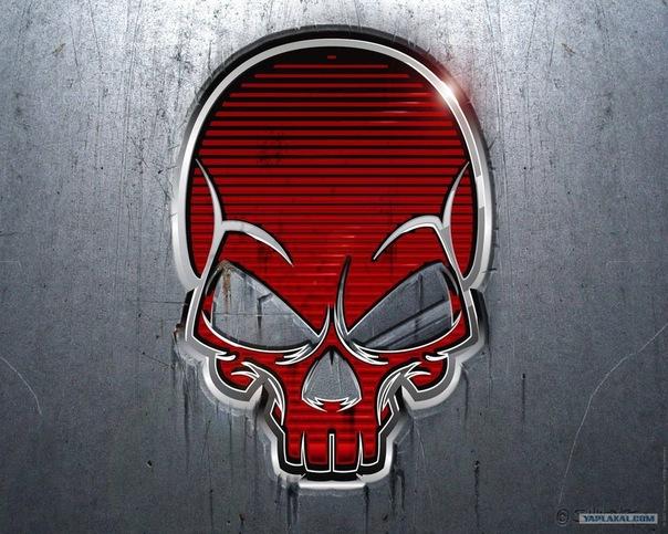 Обои skull, череп, red, metal, металл для рабочего стола - картинка #8449, скачать бесплатно на WallBox.ru.