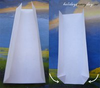 Схема оригами бумажного галстука (для галстука я использовала листок из журнала) .
