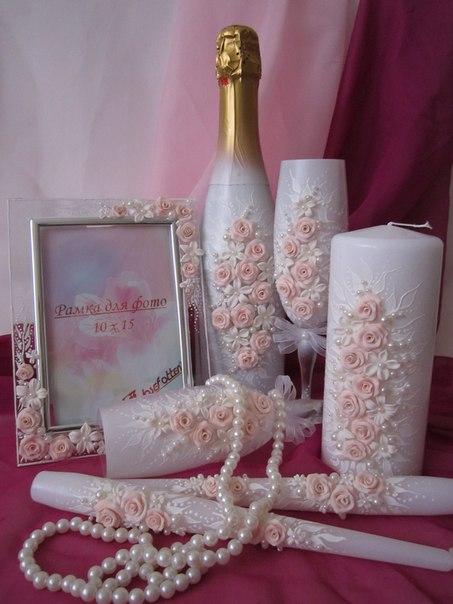 Бокалы бутылки свечи на свадьбу своими руками 91