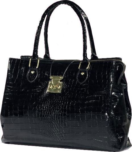 3. Модная, чёрная, лаковая сумка от Oriflame из подарочной коллекции.