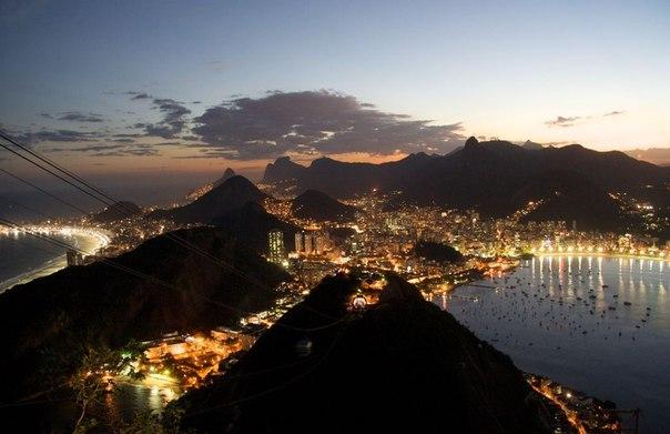 Рио де жанейро ночью фото