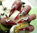 ...на ногтях фото и как рисовать осенние листья на ногтях.