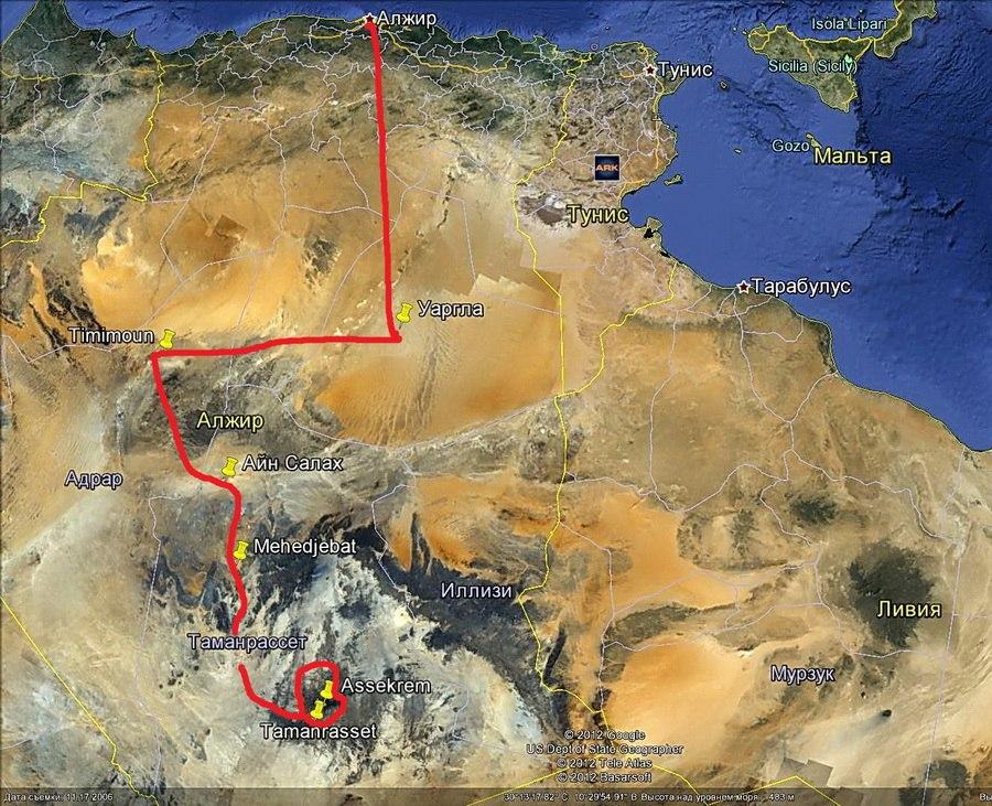 Центральный Алжир, Сахара 2012 год.