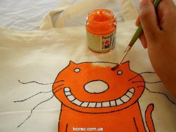 мастер-класс по росписи ткани.