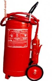 Огнетушитель передвижной порошковый с массой заряда 100-кг Предназначен для тушения возгорания твердых...