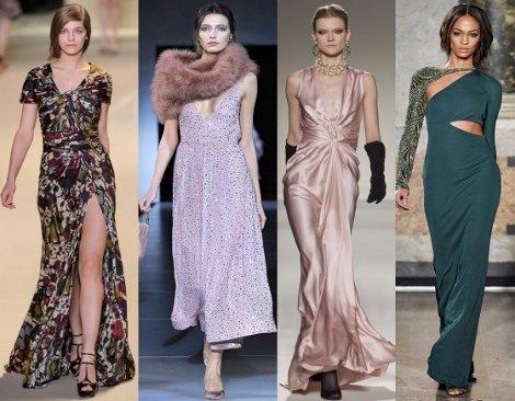 Акцент на женственности: модные вечерние платья 2012.