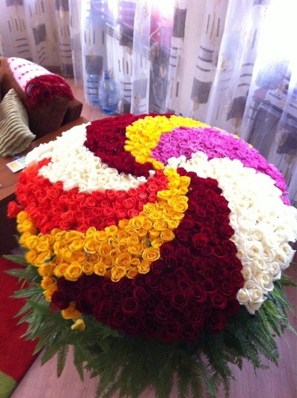 Букеты цветов самые большие