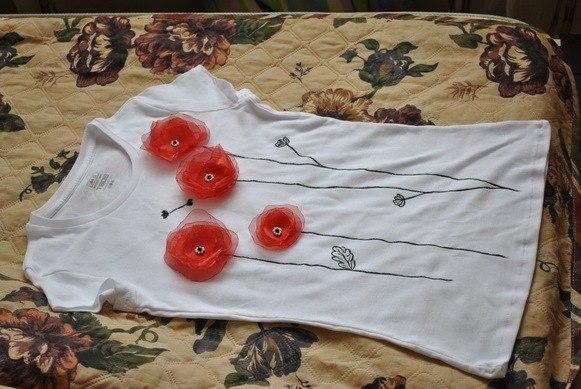 Как украсить футболки своими руками фото