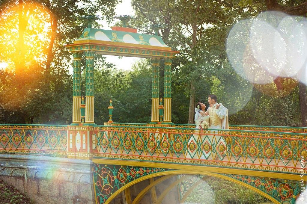 Свадебная прогулка в парках Пушкина.