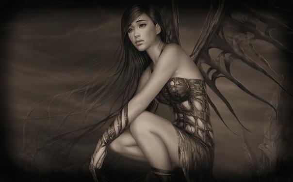 Фото на аву в вк девушки с крыльями