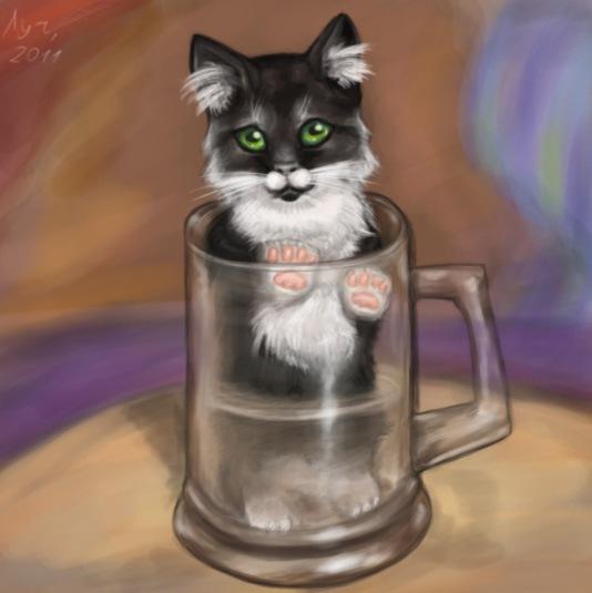 фото котят в кружке