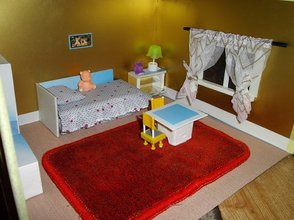 Детские поделки макет комнаты