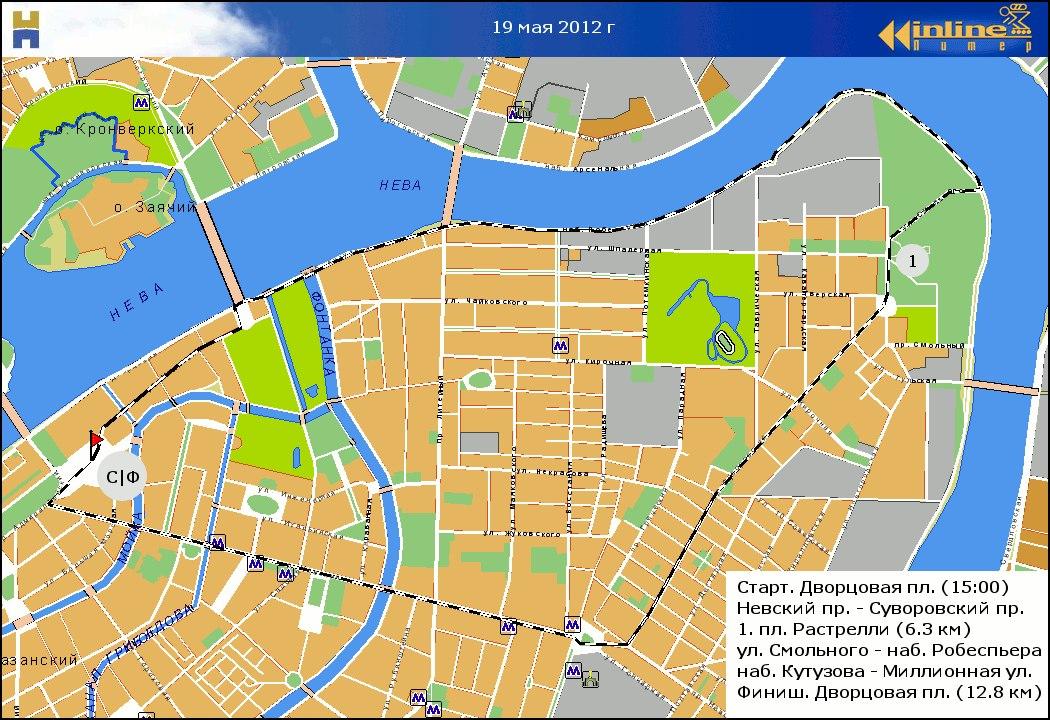 маршрут городского роллер пробега 19 мая 2012 года