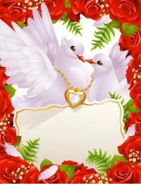 """Близнецы - Схема вышивки  """"свадебные голуби """" - Схемы вышивки - анна12 - Авторы - Портал  """"Вышивка крестом """" ."""