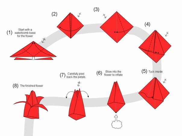 Занятие клуба оригами.