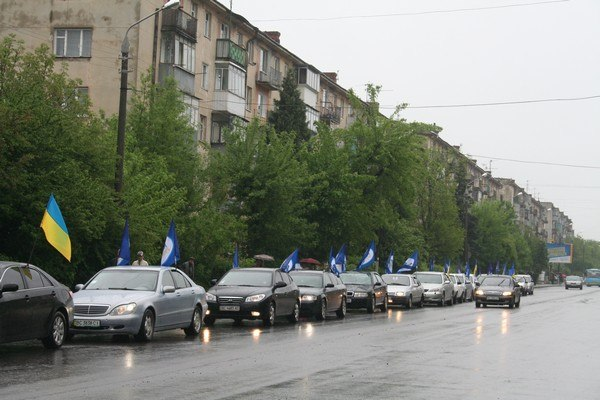 Автопробіг від Молодих Регіонів Львівщини - Відео-репортаж 12 канал2